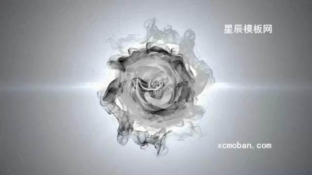 水墨烟雾中国风视频会声会影模板