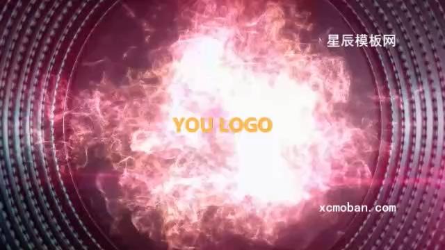 超炫粒子LOGO片头会声会影模板