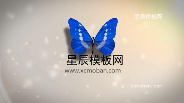 110034唯美大气蝴蝶飞舞LOGO会声会影x9