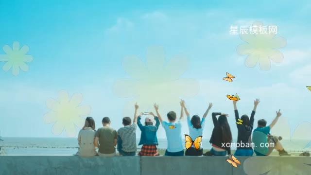 120022小清新青春毕业季电子相册会声会影x10