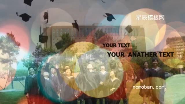 时尚多彩青春毕业相册视频模板