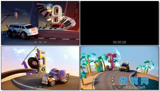 倒数计时之创意趣味儿童卡通开场视频素材05