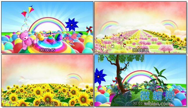 六一儿童节卡通高清背景视频素材之幸福约定