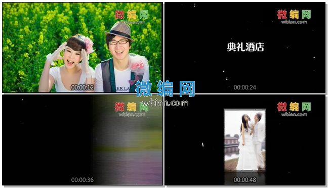 婚礼预告片视频AE模板